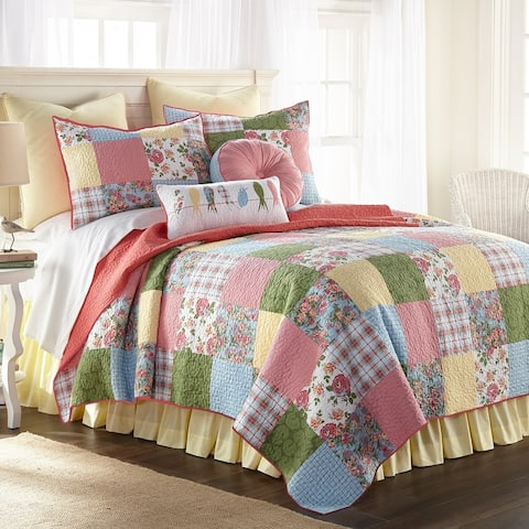 Donna Sharp Sunny Patch Quilt - Pink/Yellow
