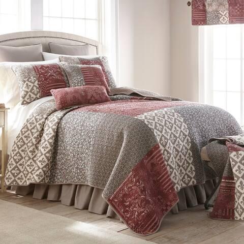 Donna Sharp Fleur De Lis Square Cotton Quilted Bedding