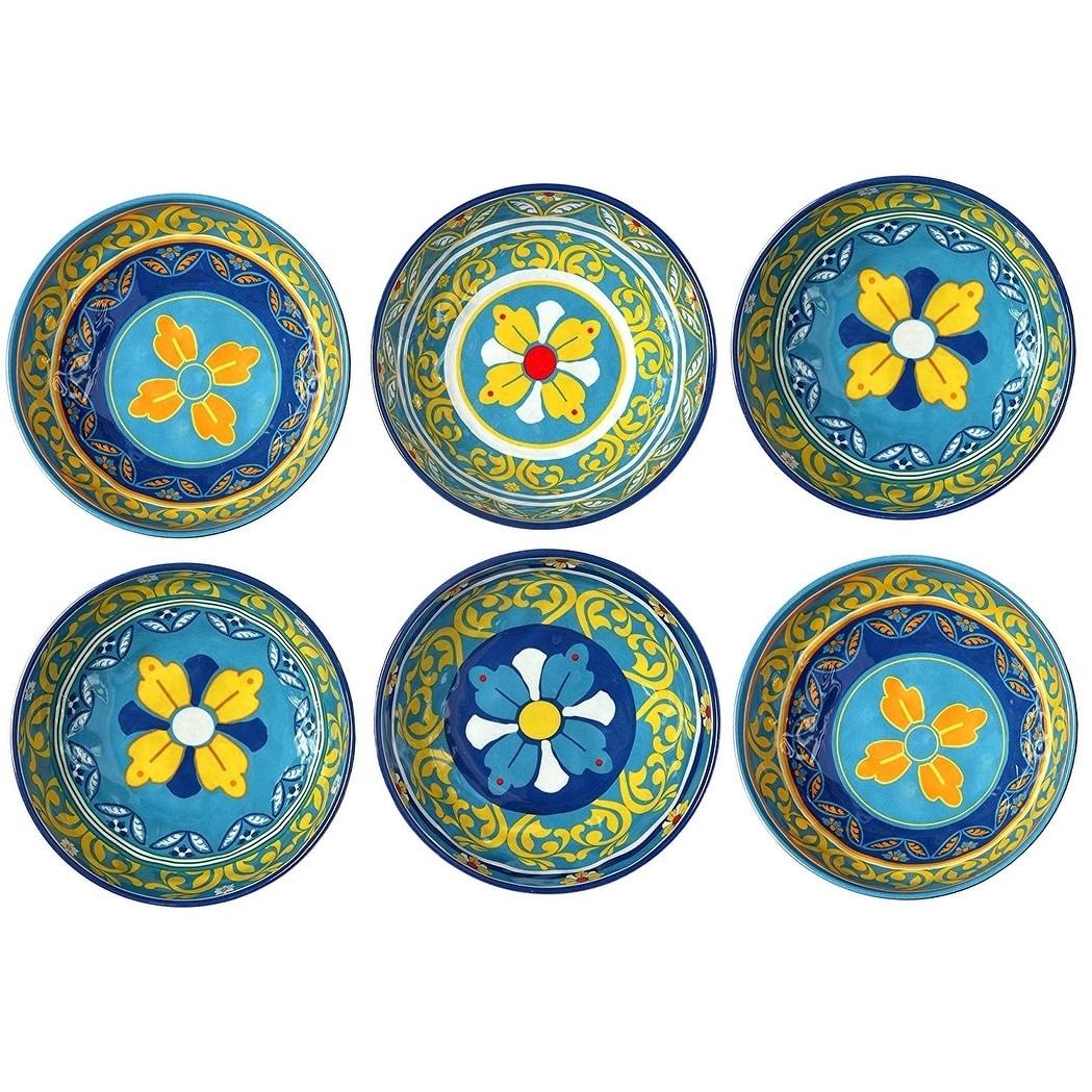 Melange 6 Piece 100 Melamine Bowl Set Gardens Of Italy Collection Overstock 26966477
