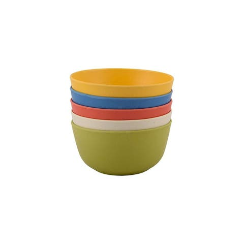 Melange 36-Piece Bamboo Bowl Set (Rounds Collection)