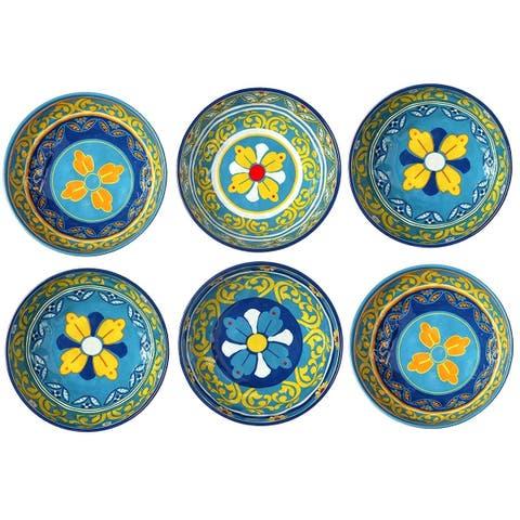 Melange 36-Piece 100% Melamine Bowl Set (Gardens of Italy Collection)