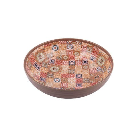 Melange 36-Piece 100% Melamine Bowl Set (Moroccan Tiles)