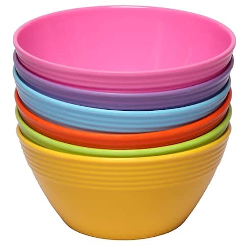 Melange 6-Piece Melamine Bowl Set (Solids Collection ) Shatter-Proof and Chip-Resistant Melamine Bowls Color: Multicolor