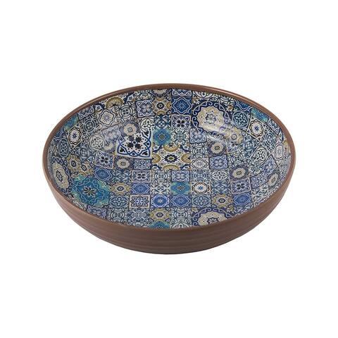 Melange 6-Piece 100% Melamine Bowl Set (Moroccan Tiles)