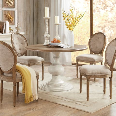 Madison Park Hemlock Reclaimed Walnut/ Antique Cream Dining Table