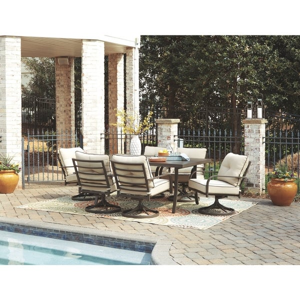 Predmore 7-piece Brown Outdoor Dining Set