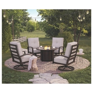 Castle Island 5-piece Outdoor Fire Pit Chat Set