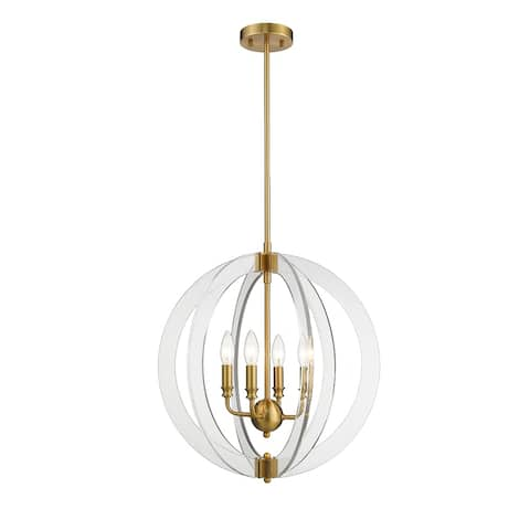 OVE Decors Isabelle 4-Lights LED Chandelier Light