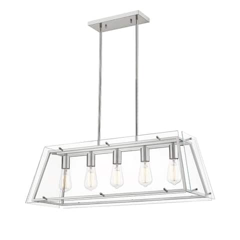 OVE Decors Evan V 5-Lights LED Chandelier Light