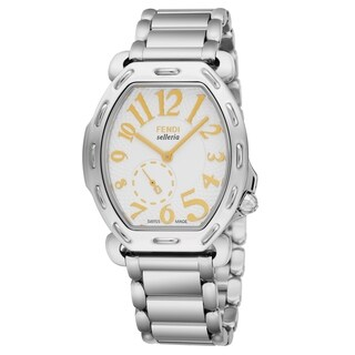 Fendi Women's F84234H.BR8653 'Selleria' Mother of Pearl Stainless Steel Quartz Watch