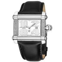 Charriol Women's CCHLD.361.H017 'Actor' Silver Dial Black Leather Strap Swiss Made Quartz Watch