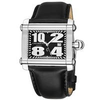 Charriol Women's CCHL.361.H018 'Actor' Black Dial Black Leather Strap Swiss Made Quartz Watch