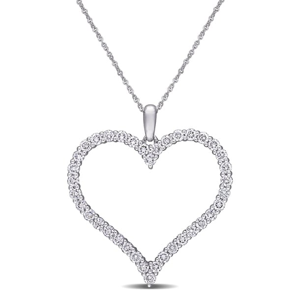 157c56fa6 Eternally Yours™ 1 1/4ct TW Lab Grown Diamond Open Heart Necklace in 14k