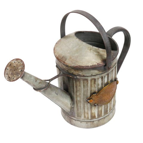 Alpine Vintage Style Metal Watering Can, 11 Inch Tall