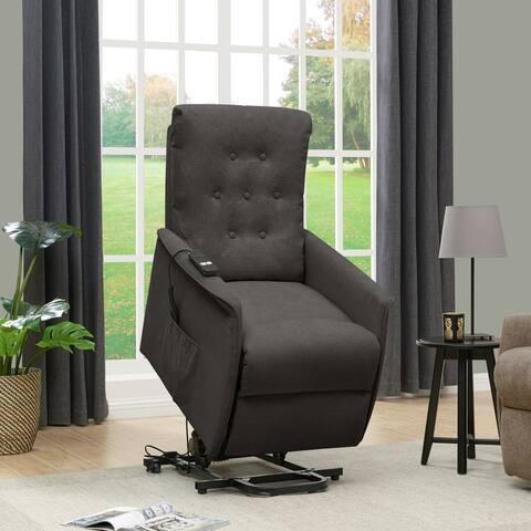 Copper Grove Warneton Velvet Power Recline and Lift Chair