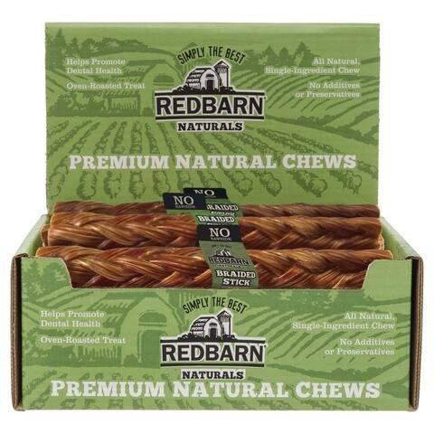 REDBARN Beef Esophagus Braided Stick (Case of 25)