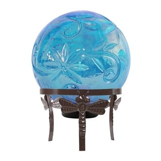 Link to Alpine Blue Glass Globe Decor w/ LED Light, 13 Inch Tall Similar Items in Outdoor Decor