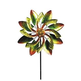 Alpine Corporation Green and Orange Windmill Garden Stake