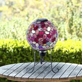 Alpine Corporation Violet Solar Gazing Globe, 17-Inches