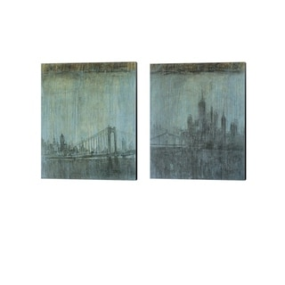 Peter Kuttner 'Urban Fog' Canvas Art (Set of 2)