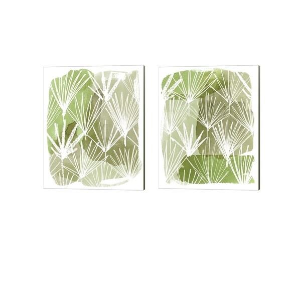 Grace Popp 'Patch Palms' Canvas Art (Set of 2)