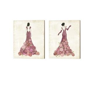 Grace Popp 'Garland Gown' Canvas Art (Set of 2)