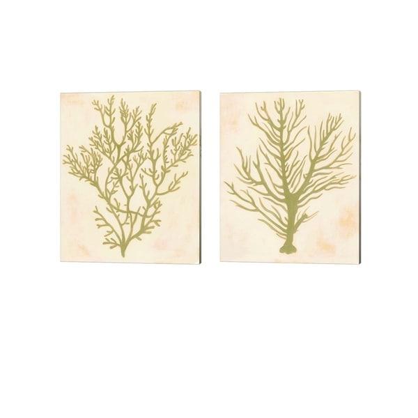 Grace Popp 'Deep Sea Coral' Canvas Art (Set of 2)