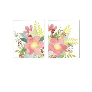 Grace Popp 'Colossal Florals' Canvas Art (Set of 2)