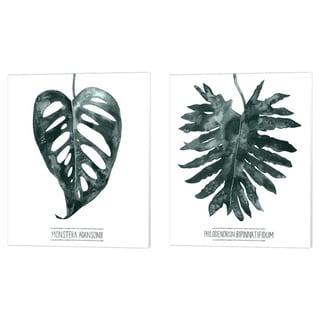Porch & Den Grace Popp 'Gemstone Tropicale A' Canvas Art (Set of 2)