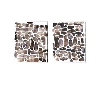 Emma Scarvey 'Stepping Stones' Canvas Art (Set of 2)