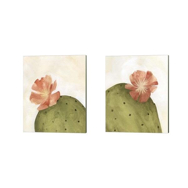 Emma Scarvey 'Arid Bloom' Canvas Art (Set of 2)