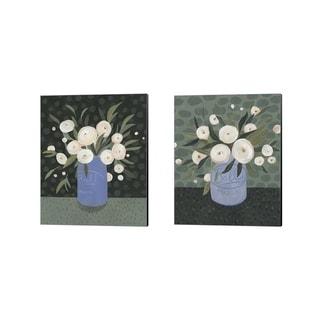 Emma Scarvey 'Mason Jar Bouquet B' Canvas Art (Set of 2)