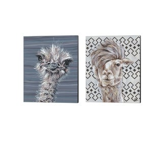 Jennifer Rutledge 'Animal Patterns B' Canvas Art (Set of 2)