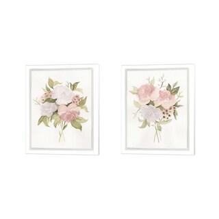 Emma Scarvey 'Soft Bouquet' Canvas Art (Set of 2)