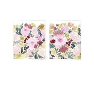 Grace Popp 'Rose Rays' Canvas Art (Set of 2)