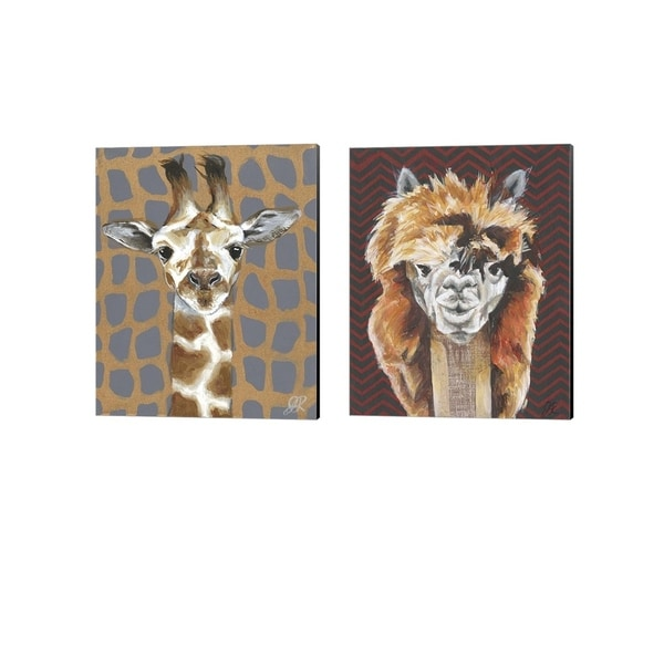 Jennifer Rutledge 'Animal Patterns C' Canvas Art (Set of 2)