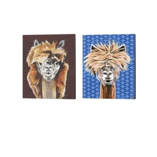 Jennifer Rutledge 'Animal Patterns A' Canvas Art (Set of 2)