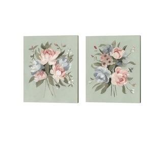 Emma Scarvey 'Pastel Bouquet' Canvas Art (Set of 2)