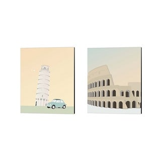 Gurli Soerensen 'Travel Europe B' Canvas Art (Set of 2)