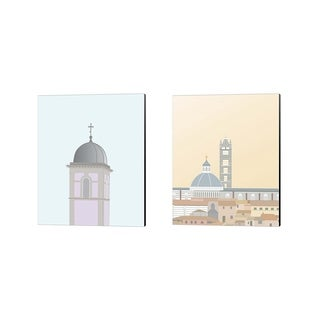Gurli Soerensen 'Travel Europe D' Canvas Art (Set of 2)