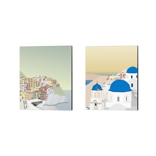 Gurli Soerensen 'Travel Europe C' Canvas Art (Set of 2)