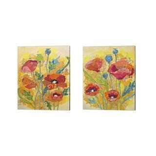 Elizabeth St. Hilaire 'Poppy Collage' Canvas Art (Set of 2)