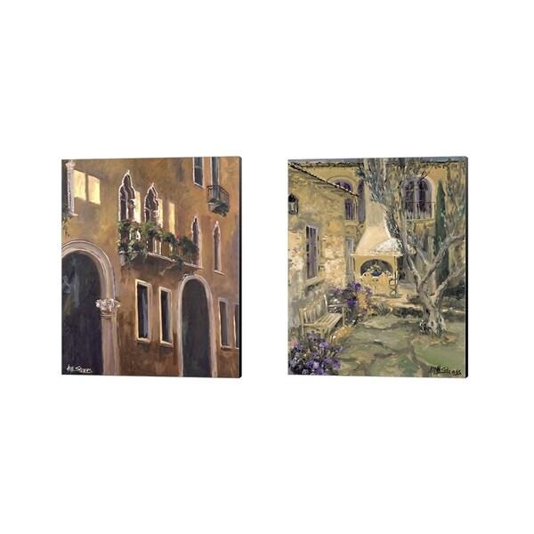 Allayn Stevens 'Scenic Italy B' Canvas Art (Set of 2)