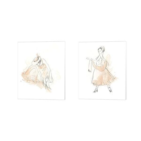 June Erica Vess 'Blush & Grey Fashion A' Canvas Art (Set of 2)