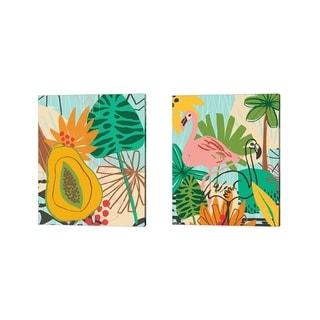 June Erica Vess 'Graphic Jungle B' Canvas Art (Set of 2)