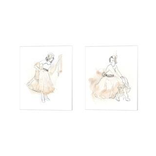 June Erica Vess 'Blush & Grey Fashion B' Canvas Art (Set of 2)