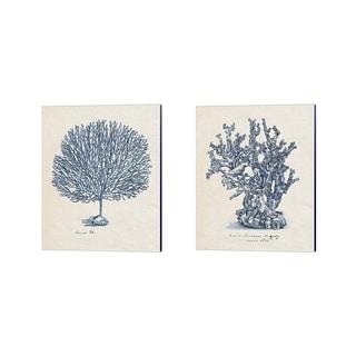 Melissa Wang 'Sea Coral Study B' Canvas Art (Set of 2)