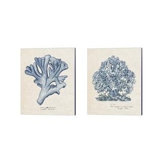 Melissa Wang 'Sea Coral Study A' Canvas Art (Set of 2)