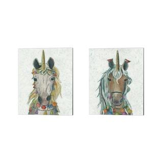 Chariklia Zarris 'Fiesta Unicorn' Canvas Art (Set of 2)