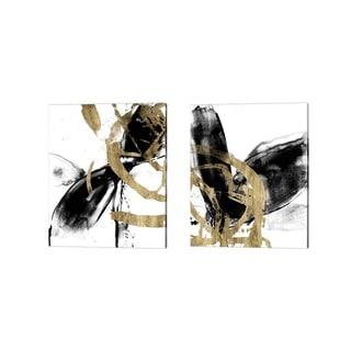 Jennifer Goldberger 'Sliced Vortex' Canvas Art (Set of 2)